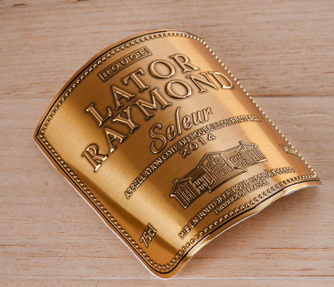 Brass Wine Label with adhesive tape