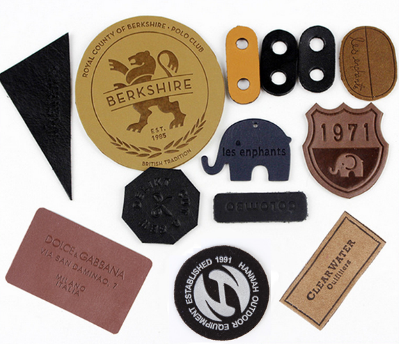 Custom cloth leather tag manufacturers