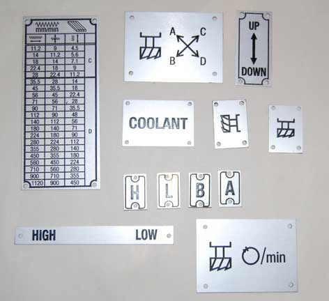 Aluminium nameplates, tags & Industrial labels