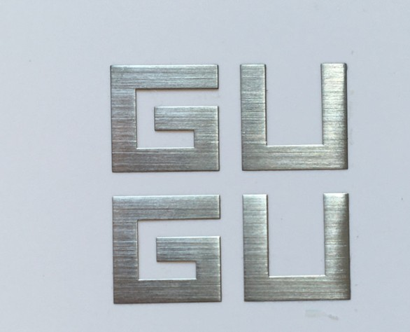 Brushed nickel nameplate/logo label & tag manuf